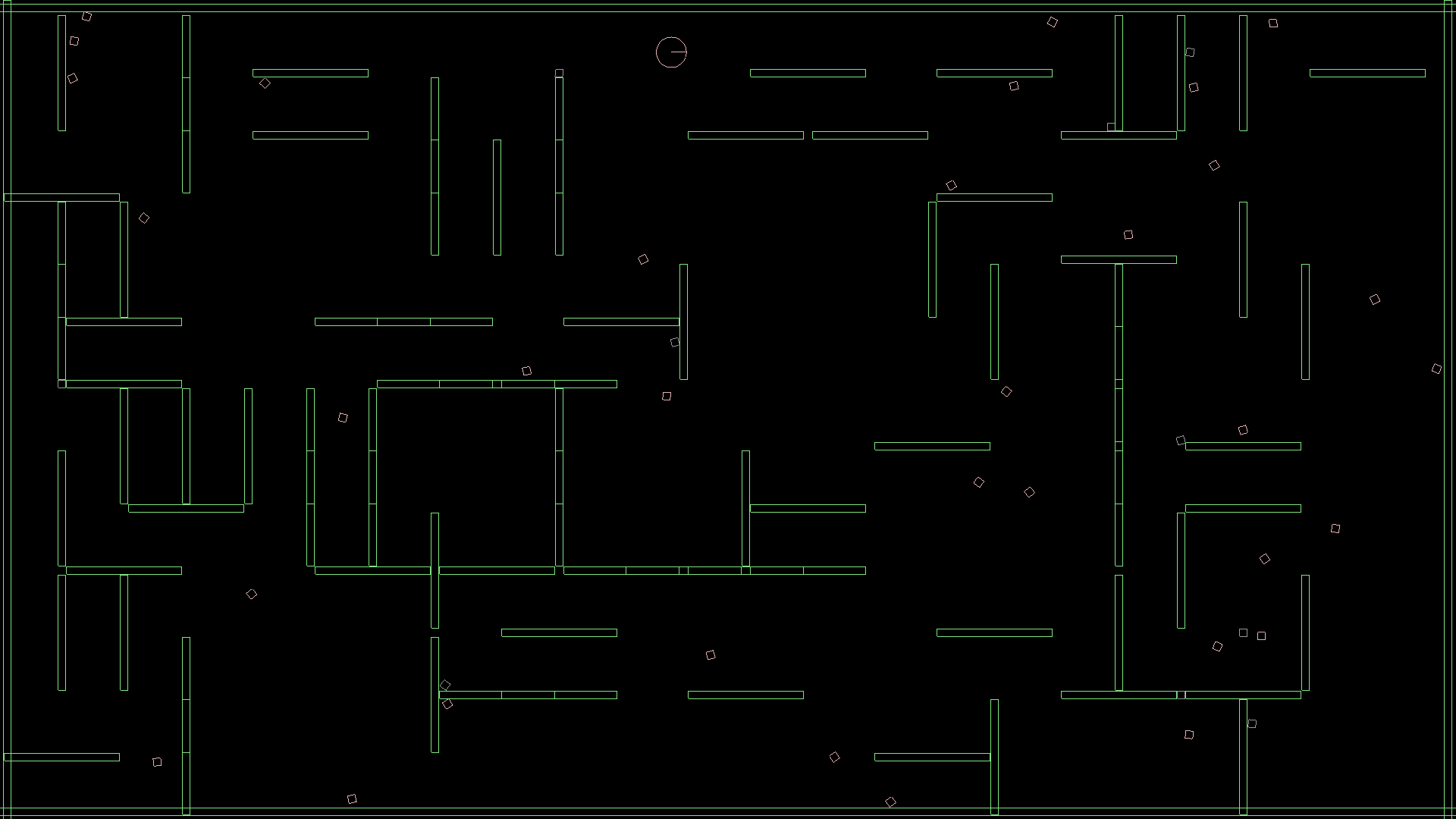 an initial attempt at creating a maze